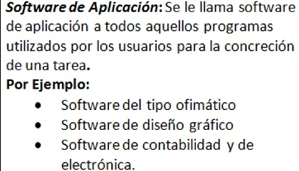 aplicaciones de software
